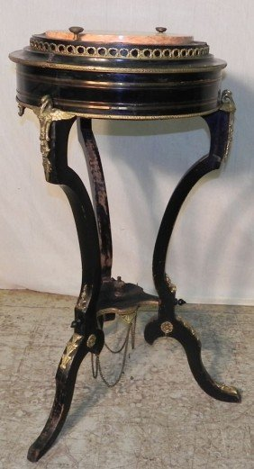 French Marble Top & Bronze Mounted Fern Stand.