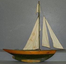 """Early Sailing Ships Model. 41"""" Long X 41"""" H."""