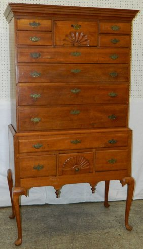 Late 18th C. Amer. Cherry Assembled Highboy.