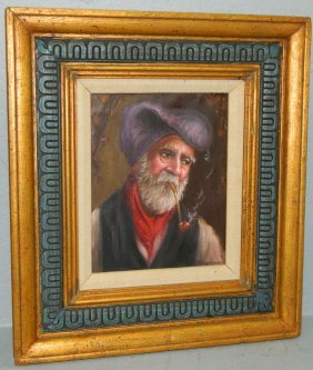 19th C. Estate Italian Ooc Portrait W/provenance