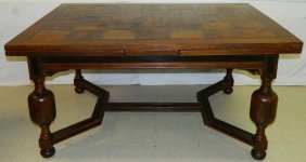 19th C. Jacobean Style Refractory Table.