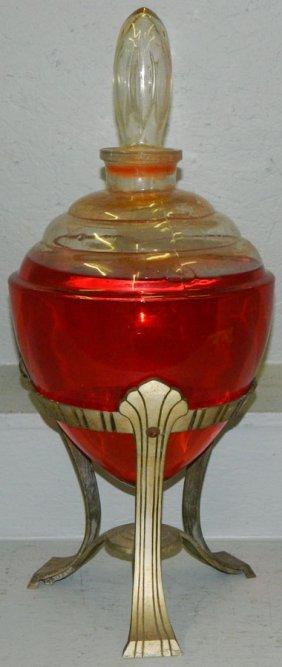 Vintage Deco American Pharmacy Jar.
