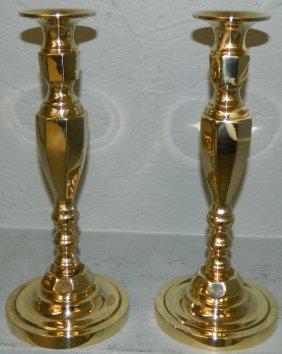 Pr. Toc Brass Polished Candlesticks.