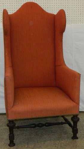 Warsaw Estate Early Turn Base Wing Back Chair
