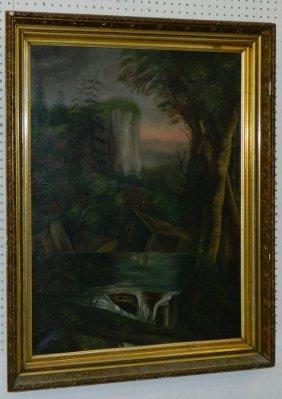 Ooc Mountain Waterfall Scene.