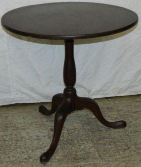 18th C. Mahogany Tilt Top Table.