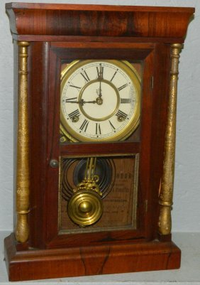 Empire 8 Day Waterbury Rosewood Shelf Clock.