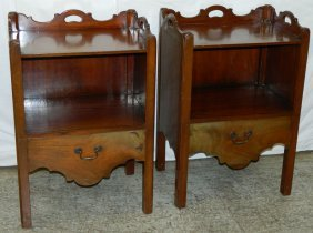 Pair Of English Mahogany Wash Stands.