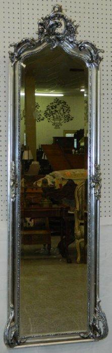 Silver Gilt Rococo Beveled Pier Mirror.