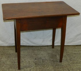 Nc Pegged Primitive Pine Tapered Leg Work Table
