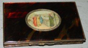.800 Silver & Aux Tortoise Ventntain Plaque Case