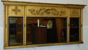 Classical Over Mantle Gilt Framed Mirror.