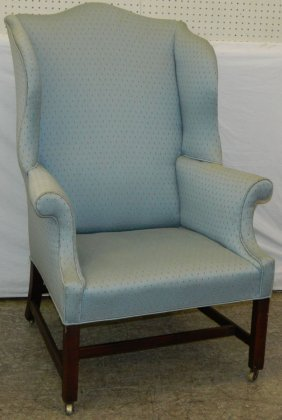 19th C. Chippendale English Wing Back Chair.