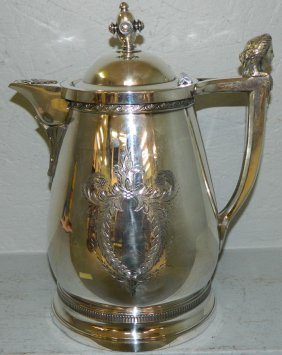 19th C. Victorian Egyptian Revival Sp Kettle.