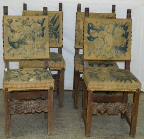 Set Of 4 18th To 19th C Flemish Side Chairs.