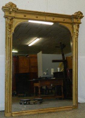 """Large Victorian Gilt Pier Mirror. 80"""" X 61""""."""