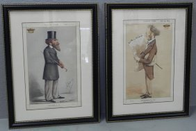 Pr. Vanity Fair Framed & Matted Character Prints