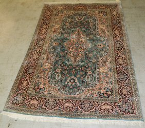 "8'6"" X 5' 10"" Silk & Wool Handmade Persian Rug"