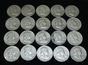 20 Franklin Half Dollars