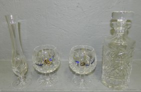 Waterford Decanter,vase & 2 Wines