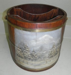 Decorated Bucket Made Into Canterbury.