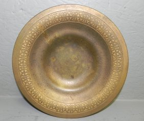 "Bronze Signed Tiffany Studio Plate. 9"" Dia."