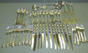 """strasbourg"" Sterling Flatware Set. 88.56 T.o."