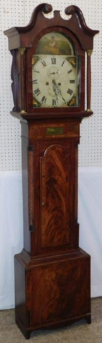English Painted Dial Mah G/father Clock Dated 1833.