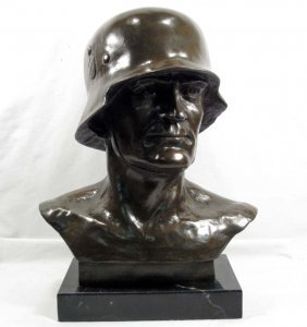 GERMAN NAZI LIFE SIZE SOLDIER BRONZE BUST