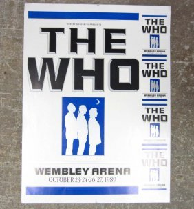 "1989 ""THE WHO"" CONCERT POSTER - UNFRAMED"