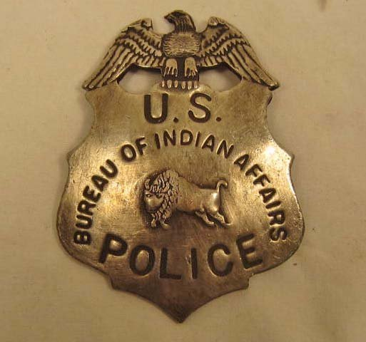 42 us bureau of indian affairs police law badge lot 42. Black Bedroom Furniture Sets. Home Design Ideas