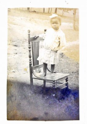 Black Americana Rppc Real Photo Postcard Of A Little