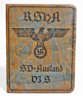 German Nazi Waffen Ss Sd Ausland Soldier Identification