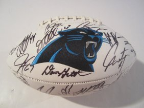 Panthers Signed Football