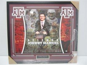 Johnny Manziel Auto Poster