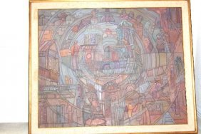 Abstract Piece By Javier Velazquez Perez In 1988