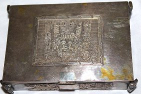 Silver Bolivian Friendship Box Gifted Bolivia In 1975