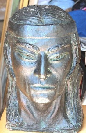 Indian Bronze Bust Made In 1978-1979