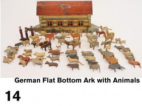 German Flat Bottom Ark With Animals
