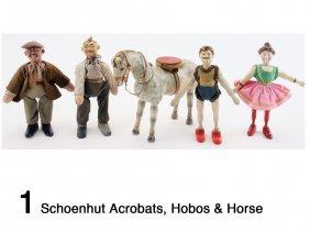 Schoenhut Acrobats, Hobos & Horse
