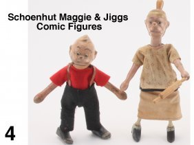Schoenhut Maggie & Jiggs Comic Figures