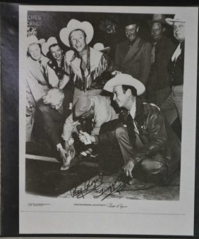 25 Photos Of Roy Rogers W /autograph By Roy Rogers