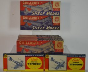 Eight Guillow's Shelf Model Airplanes & Others