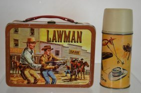1961 Lawman Lunchbox And Thermos
