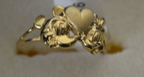 Two New 10k Yg Mickey Mouse Rings
