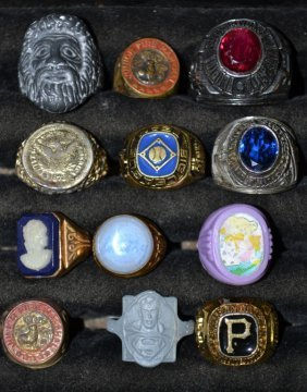 Twelve Novelty Collector Rings