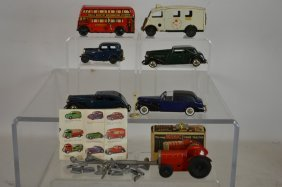 Collection Of Early Tri-ang Mini Toy Cars & Buses