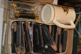 Approx. 18 Various Knives W/ Holders & Beer Mug