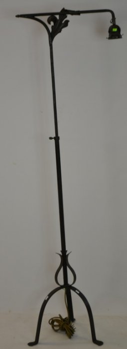 Adjustable Cast Iron Floor Lamp