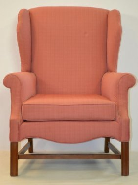 Chippendale Style Wing Back Chair